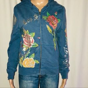 Circle of Life tattoo zippered hoodie